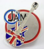 The Jam - 'Union Jack Guitar' Enamelled Metal Badge